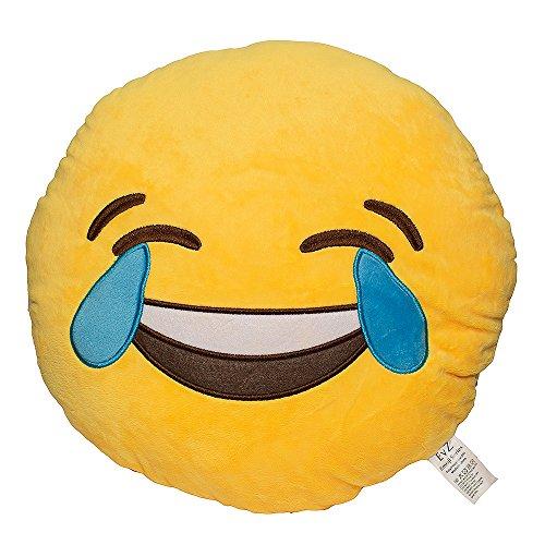 EvZ 32cm Emoji Smiley Emoticon Yellow Round...