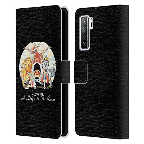 Head Case Designs Officiellt Licensierade Queen En dag på tävlingarna Nyckel konst Läder Book Plånboksfodral Kompatibelt med Huawei Nova 7 SE/P40 Lite 5G