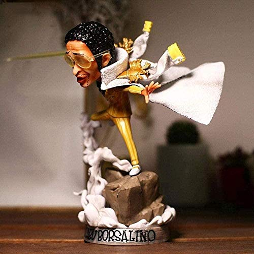 Vbnmda Anime Toy Model The Borsalino One Piece Statue Model Personaje de Dibujos Animados - Alto 8 Pulgadas