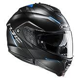 HJC Helmets 2377_25373 Casco de Moto IS MAX II Dova MC2SF, Hombre, Color Negro, Large