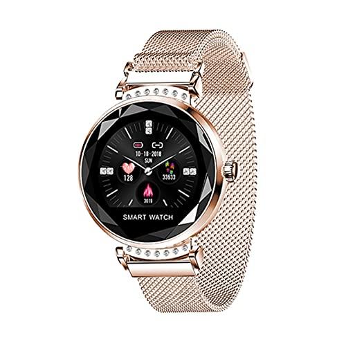 QNMM Reloj Inteligente H2 de La Mujer, IP67 a Prueba de Agua Moda Damas SmartWatch Monitor de Ritmo Cardíaco Rastreador de Ejercicios Inteligente Pulsera Aptitud para Android E iOS