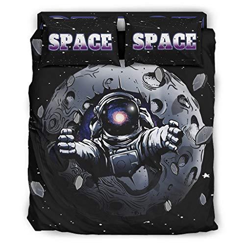 Lind88 Juego de 4 fundas de edredón de astronauta de 228 x 228 cm