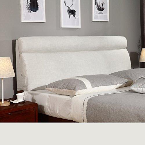 Uus Modernes populäres Bettkopf-Kissen-Korn-Schutz-weiches u. Bequemes Tuch-Leinen-weiches Beutel-Bett-großes Lehnen-Kissen-waschbares 60 * 120cm (Farbe : F)