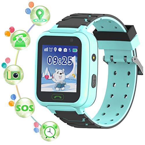 "YENISEY Waterproof Kids Tracker Watches GPS Tracker - Children Smartwatch Kids IP67 Waterproof 1.5"" Touch Screen Smart Wrist Watch with Call Voice Chat Pedometer Alarm Clock For Boys Girls Children"
