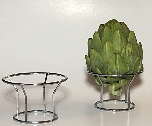 Down to Earth Stainless Steel Wire Artichoke Steamer and Holder Rack (2)