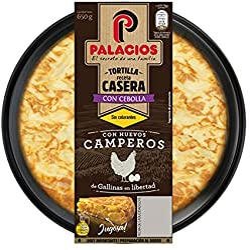 Tortilla fresca Palacios con cebolla 650 gr. Huevo Camperos