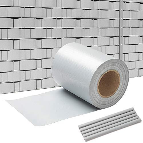 wolketon 35M*19CM Sichtschutzstreifen 450 g/㎡ Sichtschutzfolie PVC inkl. 30 Clips Sichtschutzfolie für den Gartenzaun oder Balkon