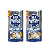 Bar Keepers Friend Cookware Cleanser & Polish (12 oz) - Cleaner, Degreaser & Stain-Remover - for Use...