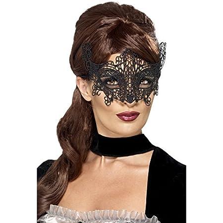 Baanuse 6Pcs Masque de Dentelle Noir pour Les Yeux Noir