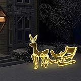 Renna con slitta luminosa di Natale