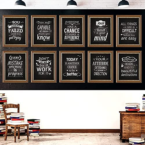 10 Pieces Industrial Chic Posters with Motivational...