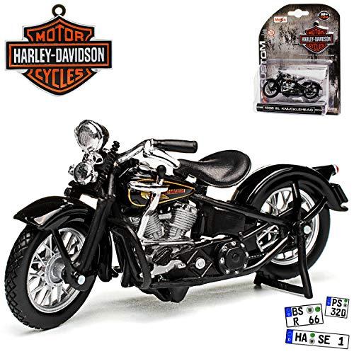 HarIey Davdson EL Knucklehead Schwarz 1936 1/24 Maisto Modell Motorrad