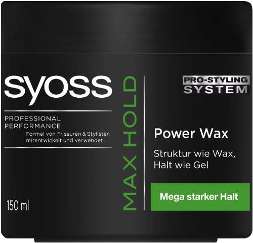 Syoss Max Hold Power Wax, 1er Pack (1 x 150 ml)