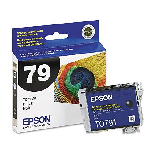 Epson T079120 (79) Claria Ink Cartridge (Black) in Retail Packaging