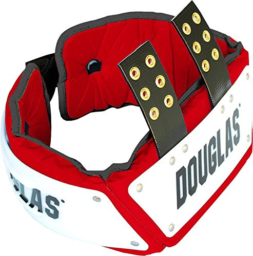 Douglas CP Series Football Rib Combo Protector with Plastic - Red 6 inches