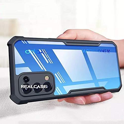 REALCASE Oppo Reno 5 Pro Back Cover, Silica Gel Hard Clear Transparent Bumper Back Case for Oppo Reno 5 Pro (X Black)