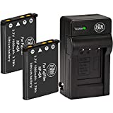 BM 2 NP-45A Batteries and Charger for Fujifilm INSTAX Mini 90, FinePix...
