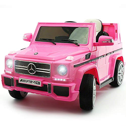 2020 Mercedes G Wagon Ride On Kids Car Truck w/ Remote Control | Large 12V Power Battery Licensed Kid Car to Drive - 3 Speeds, Leather Seat, MP3 Music Player, LED Lights
