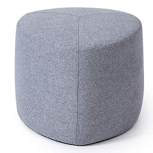 JIEER-C bureaustoel, gevoerde voetenbank met zitkussen en kussen van stof voor thuis comfortabel ademend vermogen (kleur: grijs, maat: A) A Grijs