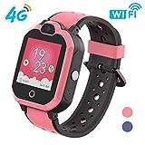 Polywell 4G Kinder Smartwatch, Touchscreen Mobile Smartwatches mit LBS SOS Voice Chat Kamera Taschenlampe Wecker Digitalkamera Kids Smart Watch für Mädchen, Kompatibel mit IOS und Android...