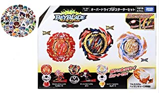 Takaratomy Beyblade Burst B-191 Overdrive SP Starter Set + Bay Random Stickers (واردات ژاپن از توکیو)