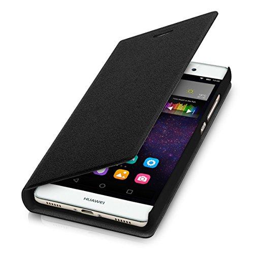 kwmobile Cover compatibile con Huawei P8 Lite (2015) - Custodia protettiva apribile a libro - Flip Case con sportellino