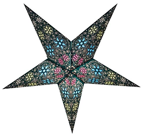 GalaxyArts - Chakra (Turquoise, Medium) - Paper Star Lantern
