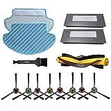 iAmoy, filtro di ricambio e spazzole laterali e panno per la pulizia e spazzole a rullo, kit di accessori compatibile con aspirapolvere Ecovacs Deebot 900 901