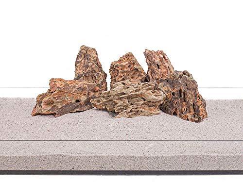 Aquarium Natursteine Drachenstein braun 20 Kg Gr.L 1-2 Kg Nr.63 Steine Deko Felsen Pagode Dekoration Aquascaping