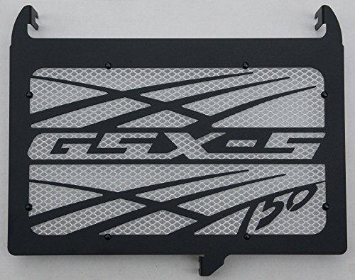 cache radiateur/grille de radiateur 750 GSX-S design Tsunami noir carbone satiné + grillage anti gravillon blanc