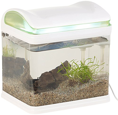 Sweetypet Aquarium: Transport-Fischbecken mit Filter, LED-Beleuchtung und USB, 3,3 Liter (Aquarium-Set) - 6