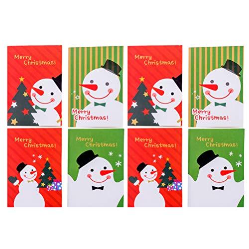 TOYANDONA Agenda natalizia per notebook, giornale, per vacanze, con Babbo Natale, renna e pupazzo di neve (stile casuale) 24 Stück Pupazzo di neve