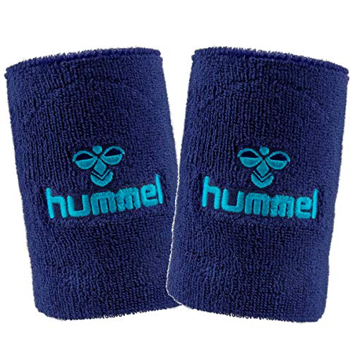 hummel Old School Small/Big Wristband 2er Set in vielen Farben für Handball und weitere Sportarten - Top Schweißband (saragossa sea (8744), Small)