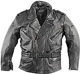Giacca in pelle da moto Held come back in stile biker-style - molte tasche nero 60