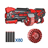 Innovative Toys Dart Blaster Toy Gun for Kids - 40 Bullet Rotating Drum with Foam Darts - Includes 80 Foam Dart for Youth, Teens, Adults