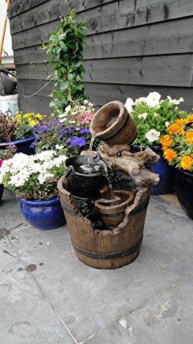 Ubbink Wasserspiel Portland Springbrunnen Set Holzfass Gartenbrunnen Brunnen von Gartenwelt Riegelsberger