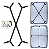 Best Bed Sheet Suspenders - QoeCycth Bed Sheet Holder Straps, 2Pcs Adjustable Crisscross Review