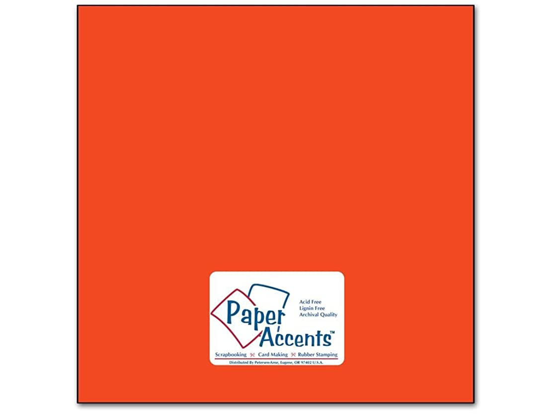 Accent Design Paper Accents Cdstk Smooth 12x12 74# Construct Orange