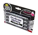 Crayola Low Odor Dry Erase Markers, Chisel Tip, 4 Count, Black