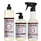 Mrs. Meyer's Clean Day Kitchen Basics Set, Includes: Multi-Surface Cleaner, Hand Soap, Dish Soap,...