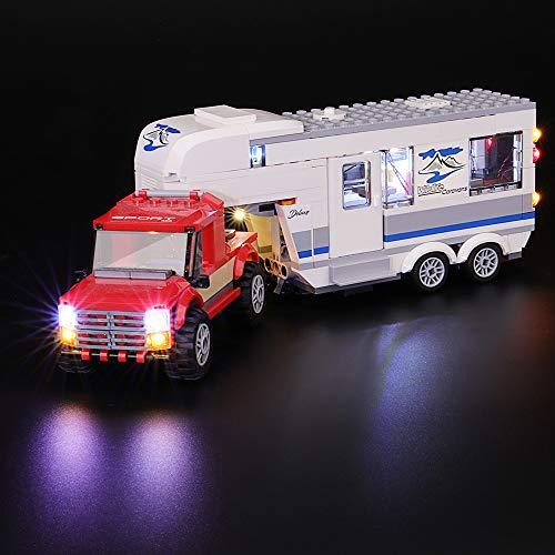 BRIKSMAX Led Beleuchtungsset für Lego City Fahrzeuge Pickup und Wohnwagen, Kompatibel Mit Lego 60182 Bausteinen Modell - Ohne Lego Set