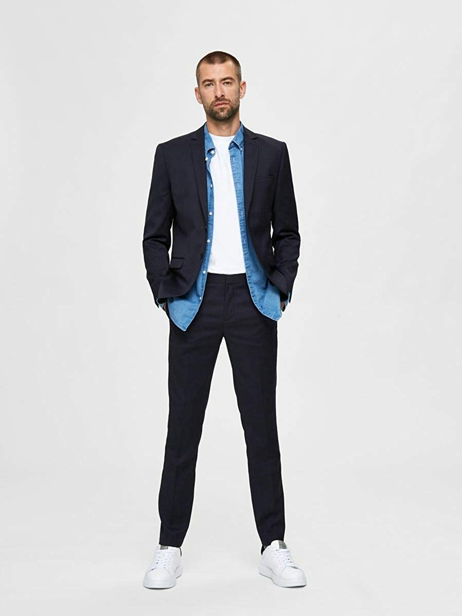 SELECTED HOMME Slhslim-mylobill Navy Trouser B Noos Pantaloni Completo Uomo