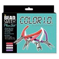 Beadsmith Color Jewelry Tool Pliers Kit - 4 Piece Set w/ Case