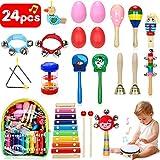 Jojoin Juguetes Musicales Instrumentos 24 Pcs, Juguetes de...