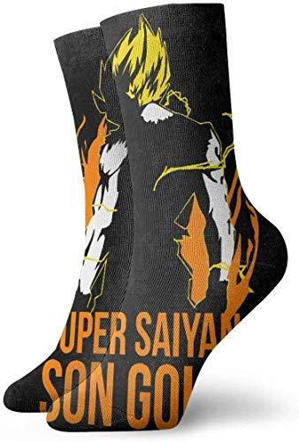 keben Dragon Ball Z - Medias Suaves de Super Saiyan Son Goku para Hombre, Talla única