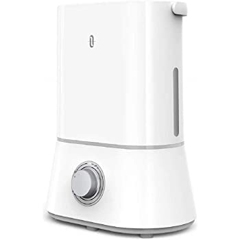Humidifiers, TaoTronics Cool Mist Humidifiers for Bedroom, 4L 26dB Quiet Humidifiers with 12-50 Hours of Run Time, Nano-Coating, Ultra Quiet, Easy to Clean, 360° Nozzle, Auto Shut-Off (White)