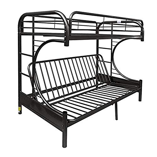 Acme Eclipse Futon Bunk Bed, Twin X-Large/Queen, Black
