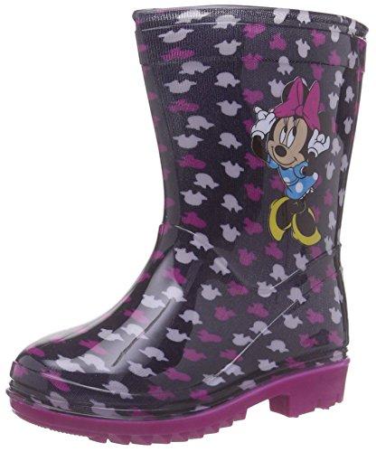 Disney Girls Kids Rainboots Boots, Bottes en Caoutchouc de Hauteur Moyenne, Doublure Froide Fille - Multicolore - Mehrfarbig (WHT White), 27