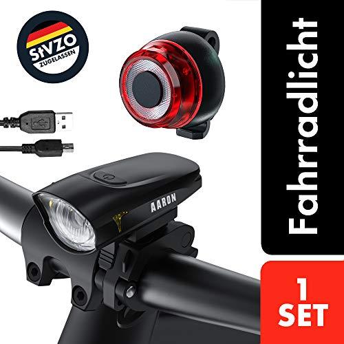 AARON - Fahrradbeleuchtung in Schwarz