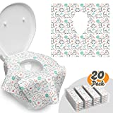 Toilet Seat Covers Disposable – 20 Pack – Waterproof, Ideal for Adults and Kids – Extra Large,...